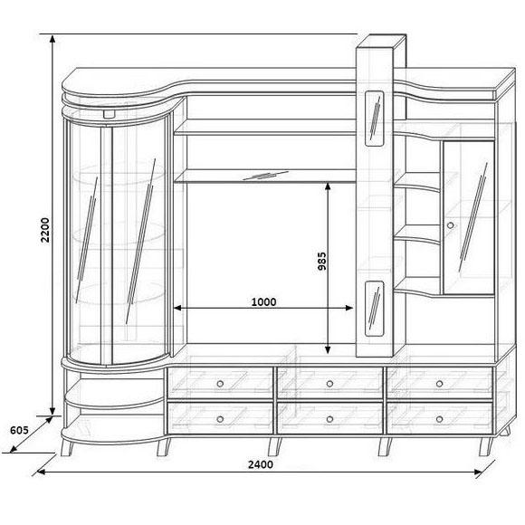 orfey 11 шкаф с витриной правый2